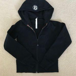Lululemon black scuba hoodie size 2